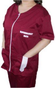 Croitorie uniforma de lucru supermarket