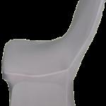 husa de scaun licra alba spatar rotund