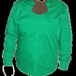 camasa verde cu esarfa